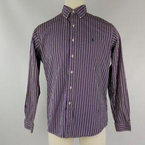 Ralph Lauren Shirt Large Purple Black Stripe